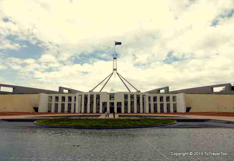 The New Parliament House in Canberra