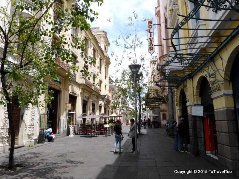 Espejo Street in Quito