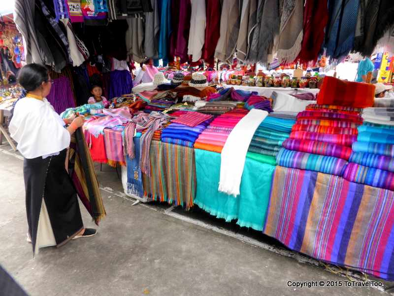 Plaza de Ponchos in Otavalo daily markets are held