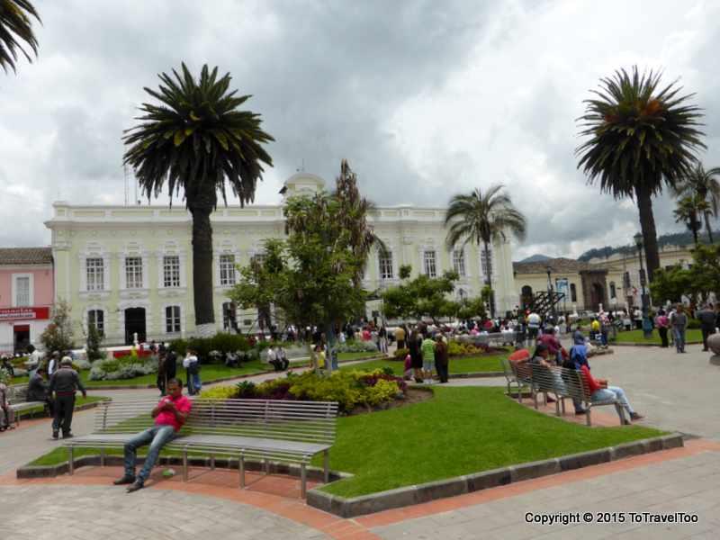 Main square of Otavalo