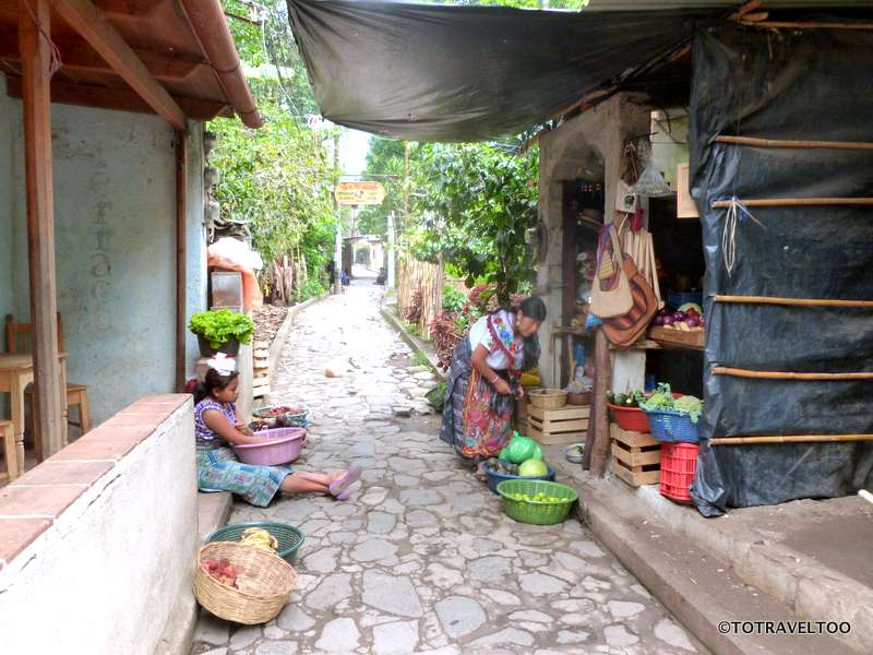 The streets of San Marcos around Lake Atitlan