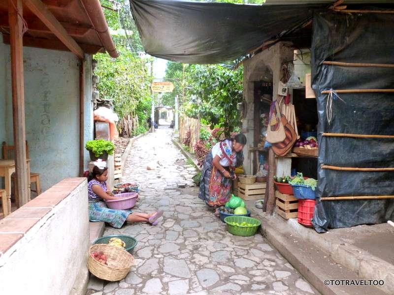 The streets of San Marcos around Lake Atitlan