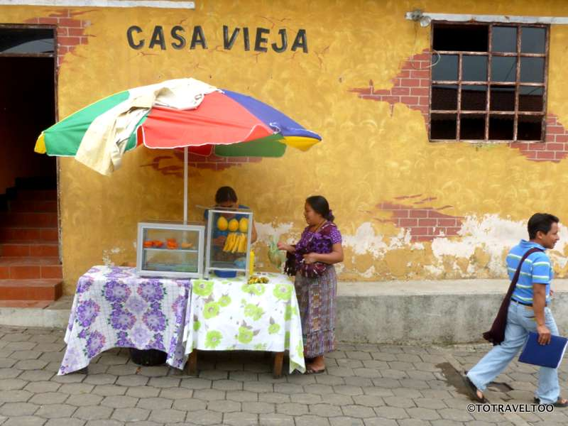 Local food stalls abound around Lake Atitlan