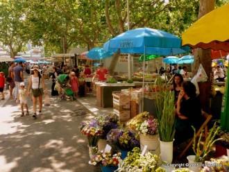 Croatia, Split , Green Market, City Morning