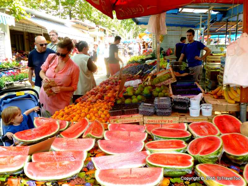 Croatia, Split , Green Market, City Morning