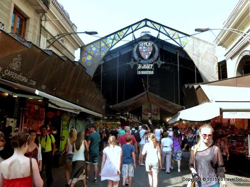 One of the entrances to La Boqueria