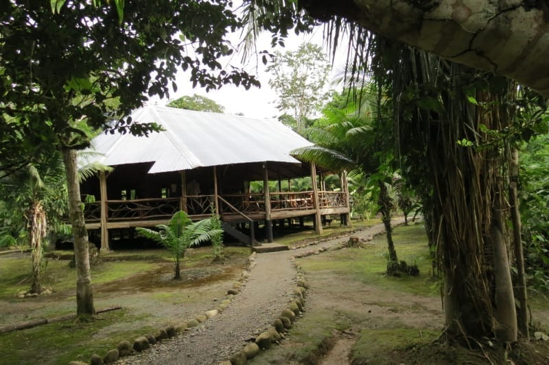 Our hostal in Chontapunta deep in the Amazon Jungle