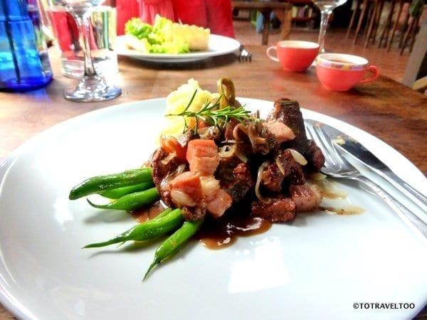Main Meal Beef at Le Petit Jardin