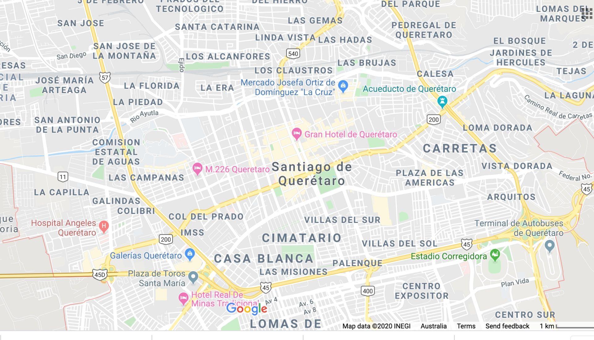 Queretaro City Map
