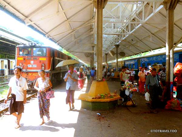 The Train's A Coming Yangon Station