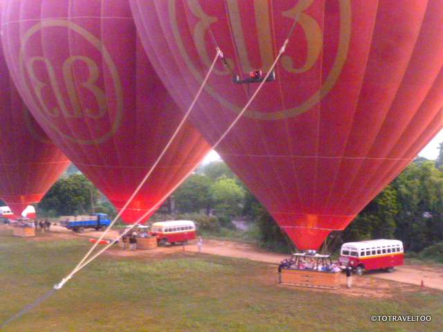 Just before takeoff with Balloons over Bagan