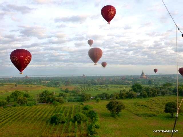 In flight over Bagan