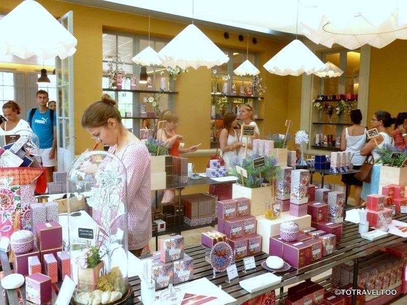Inside the Fragonard Shop in Grasse France