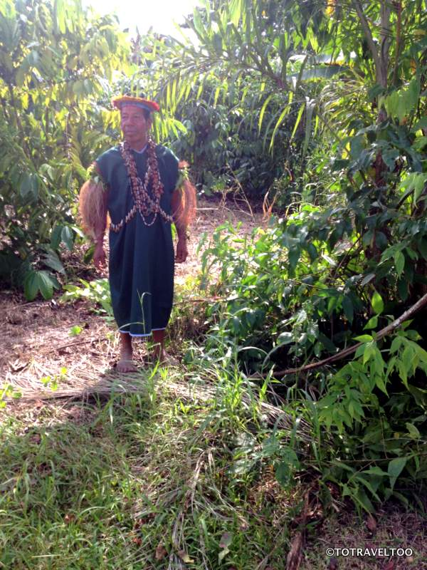 Shaman explaining medicinal plants