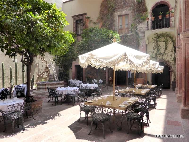 Posada Carmina Hotel Courtyard in San Miguel de Allende Mexico