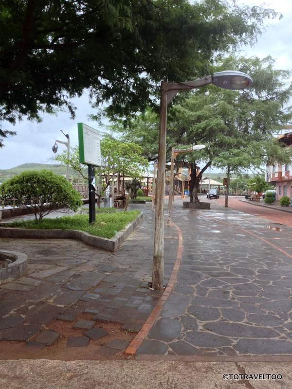 The Harbourfront of San Cristobal on the Galapagos Islands
