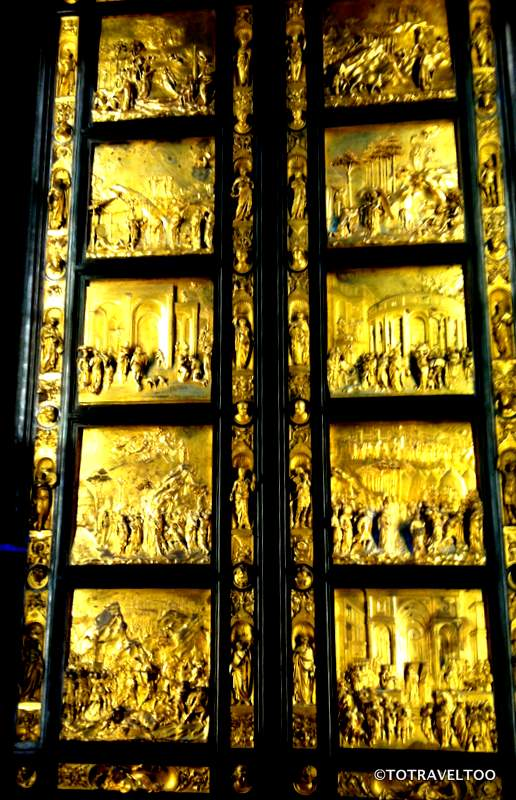Gates of Paradise in the Piazza del Duomo
