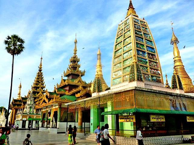 Stupa within the grounds at Shwedagon Pagoda