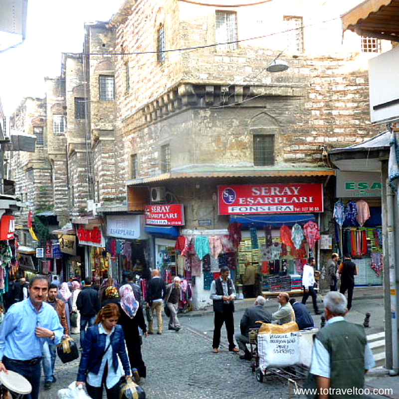 Many entrances in the Grand Bazaar in Istanbul