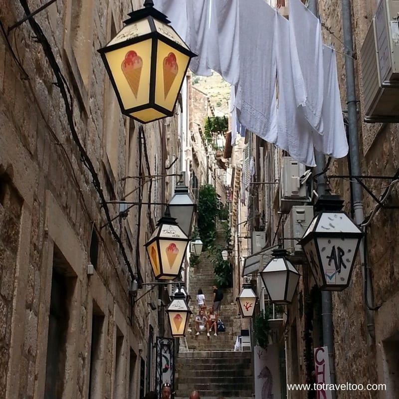 Streets in Old City Dubrovnik