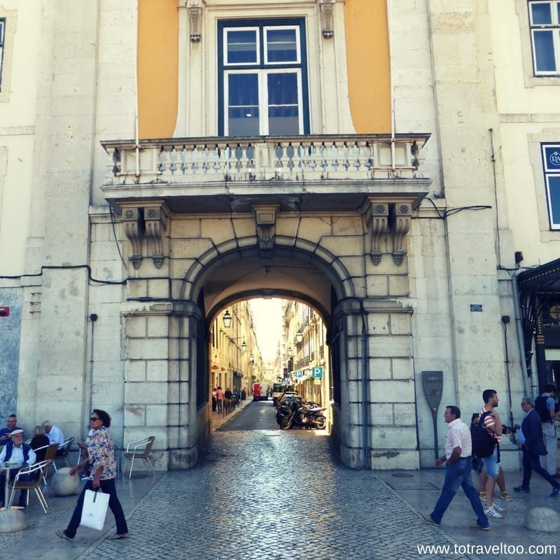 Lisbon Portugal Downtown