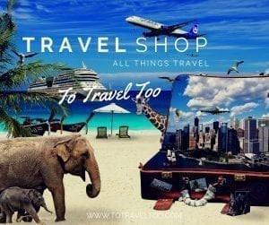 Our travel shop with over 300 travel related products