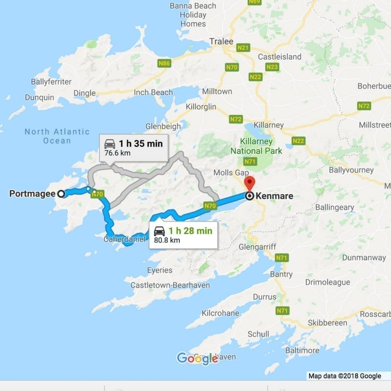 Map Of Ireland Kenmare.Self Drive Ireland Itinerary Luxury Castles And Manor Houses To