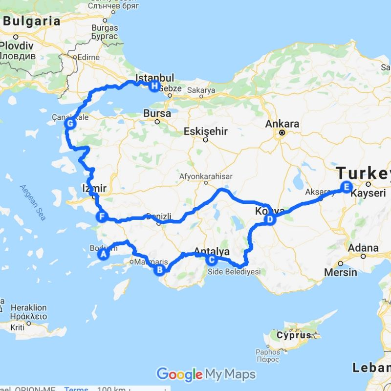 Turkey Itinerary