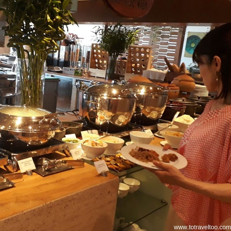 Breakfast at the Epice Restaurant - luxury escape in Vietnam