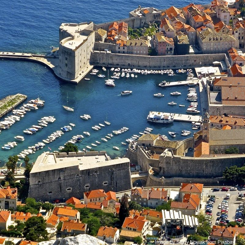 The view over Dubrovnik Harbour