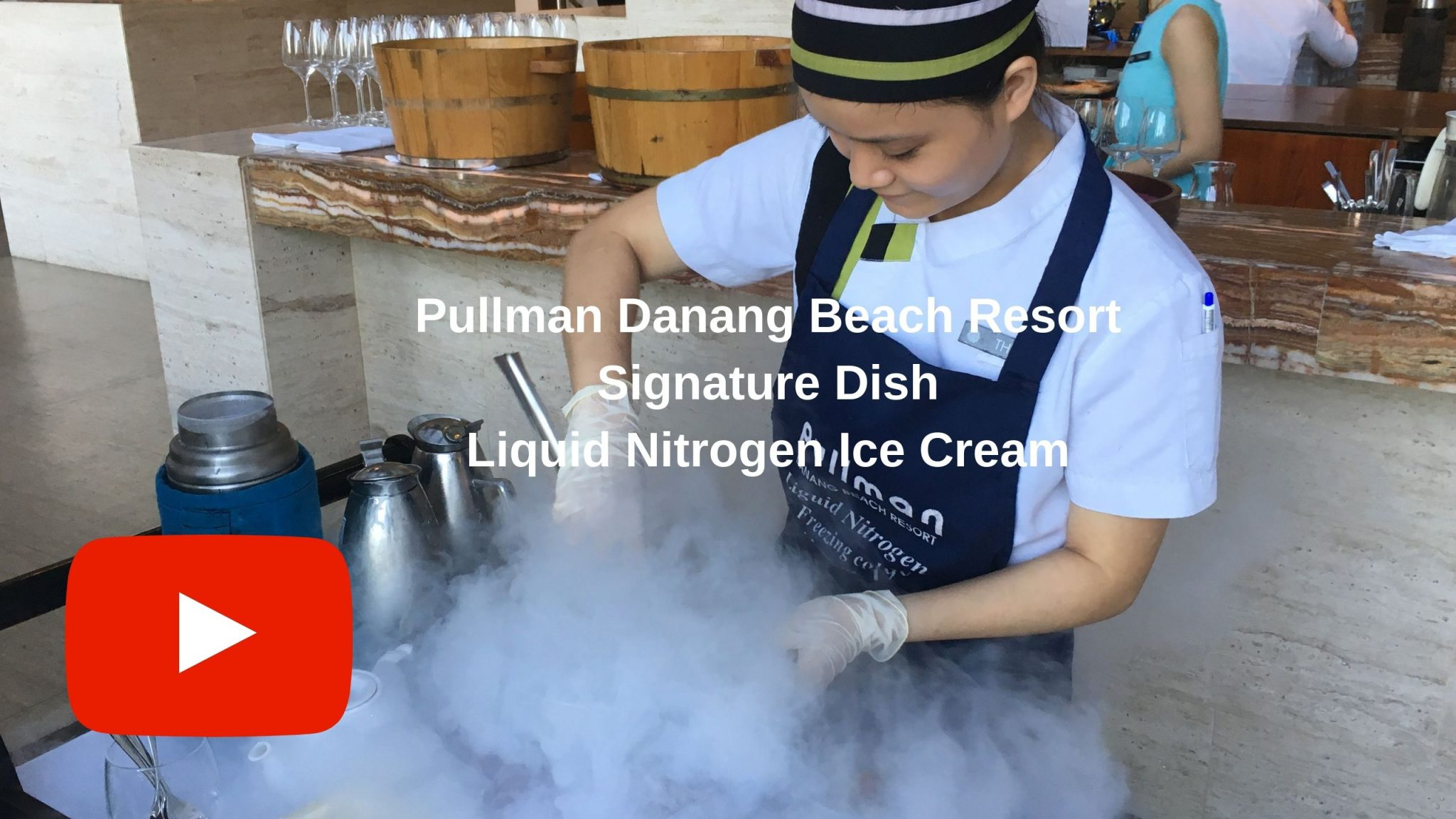 Making Liquid Nitrogen Ice Cream at Pullman Danang Beach Resort