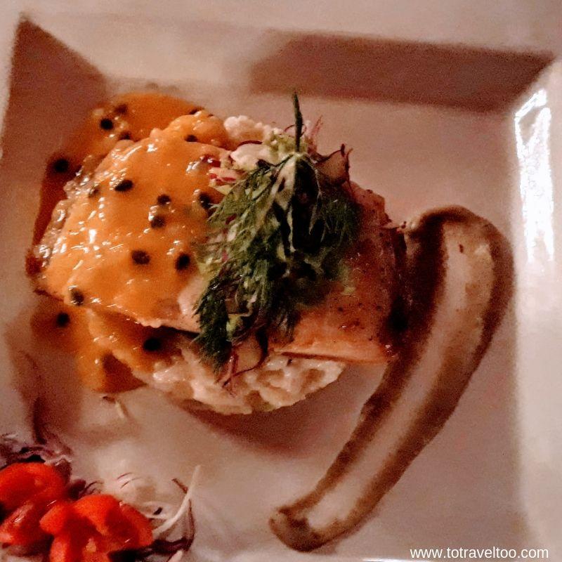 Dinner at Tu Van Restaurant - Sea Bass with Passionfruit Sauce