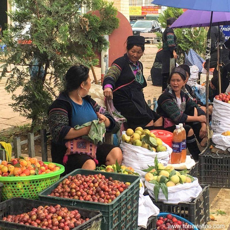 Ladies at the local market