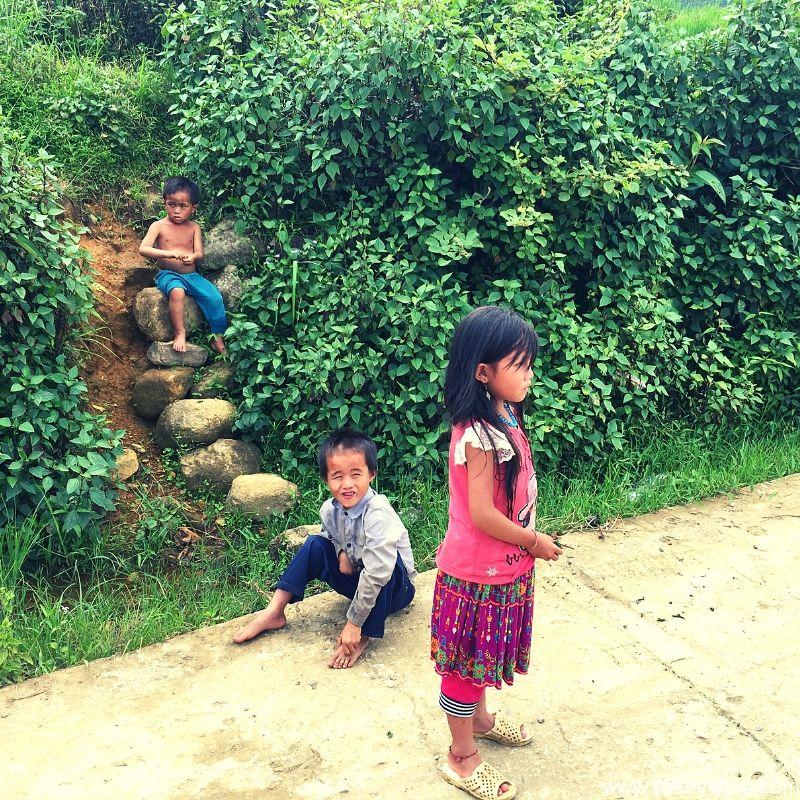 Children playing hopscotch
