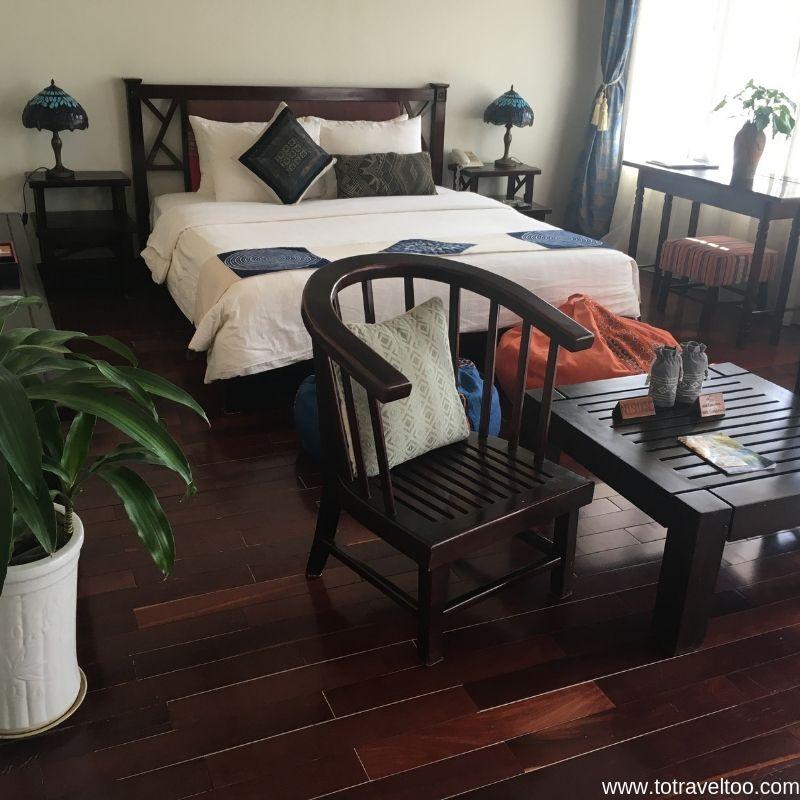 Junior Suite at Mai Chau Lodge for our guide to mai chau vietnam