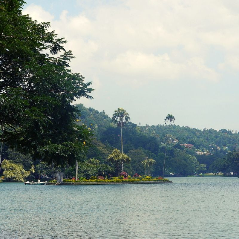 Kandy Lake in Sri Lanka