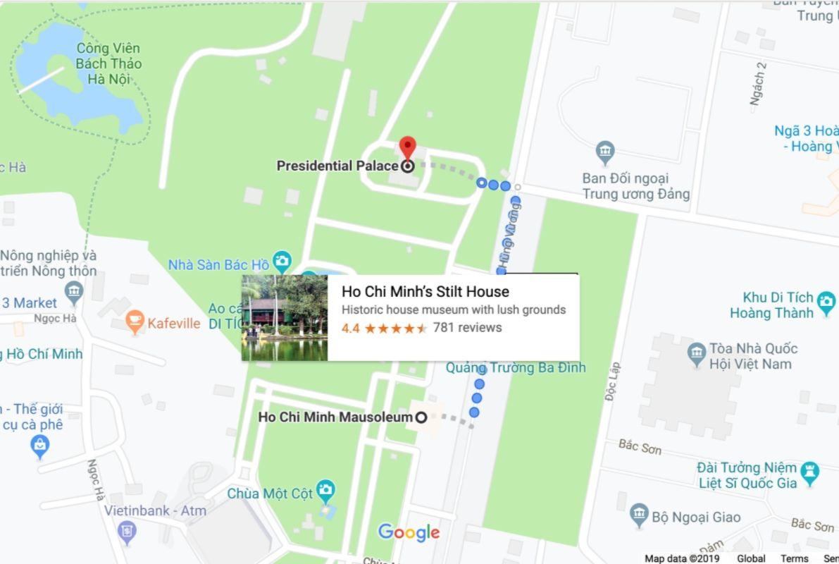 Map of Presidential Grounds Hanoi