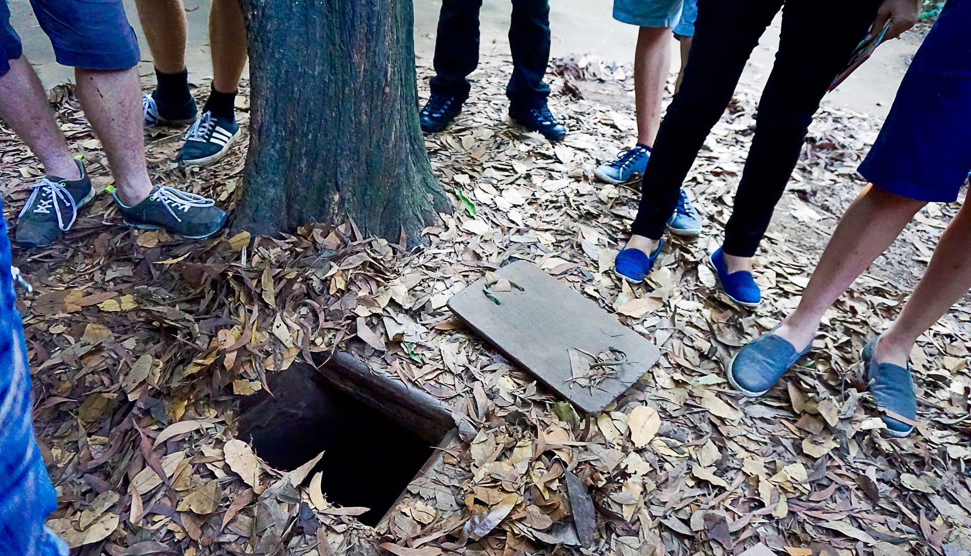 Exploring Asia Cu Chi Tunnels