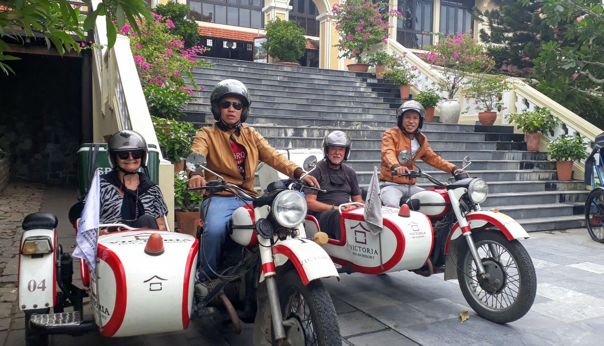 Our sidecar tour commences
