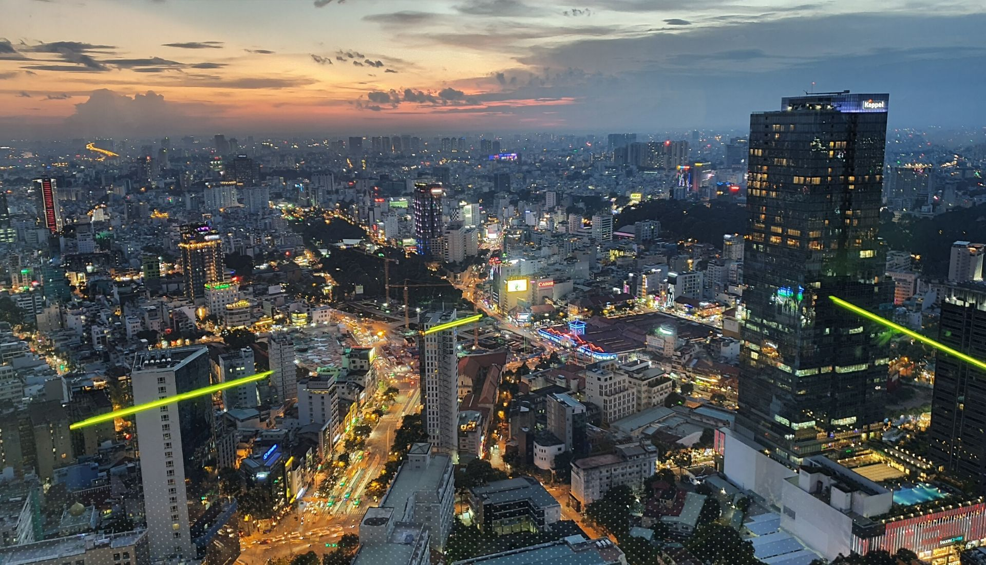 The view from Bitexco Tower at sunset - 5 days in Saigon