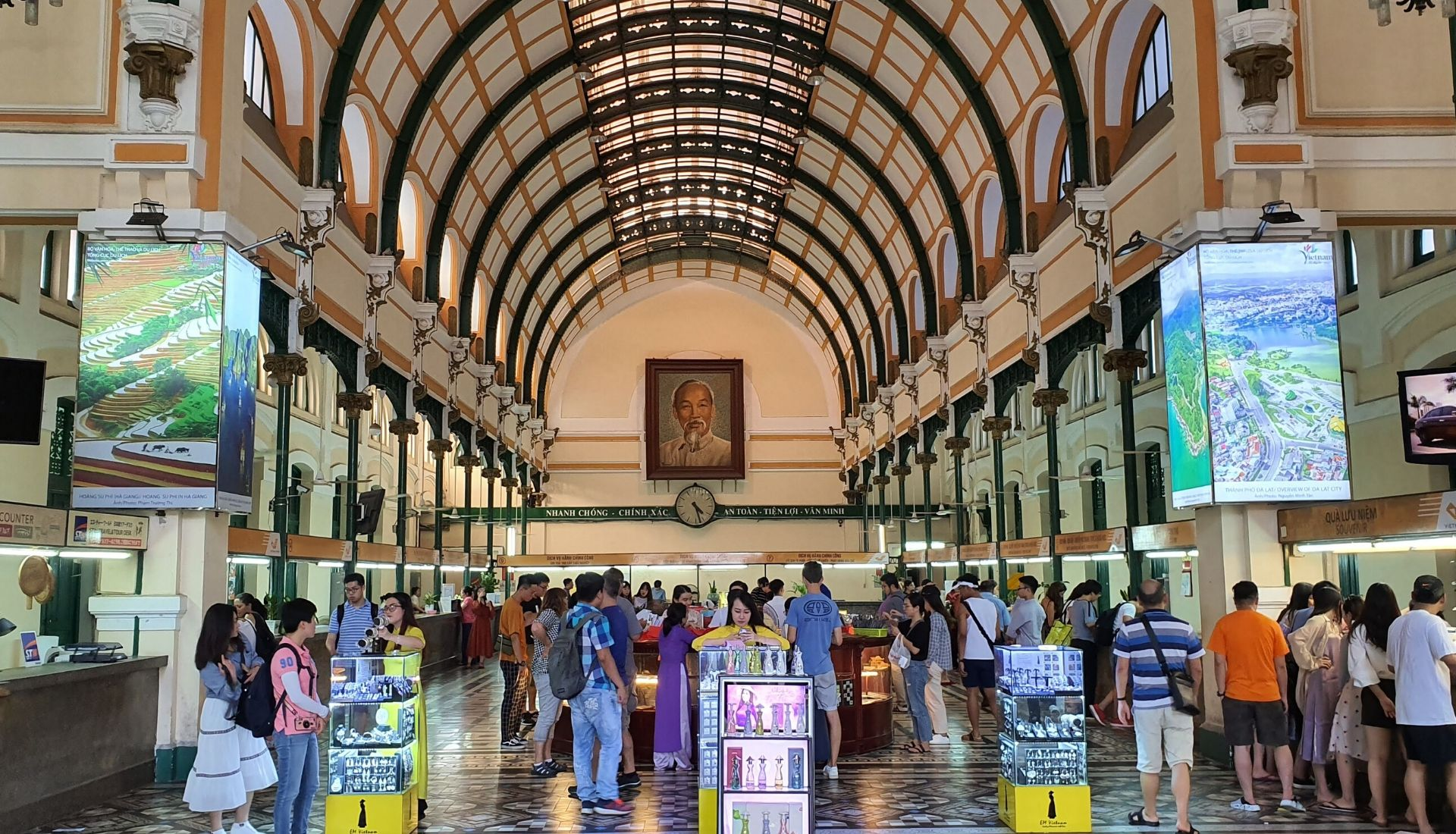 Inside the Central Post Office - 5 days in Saigon
