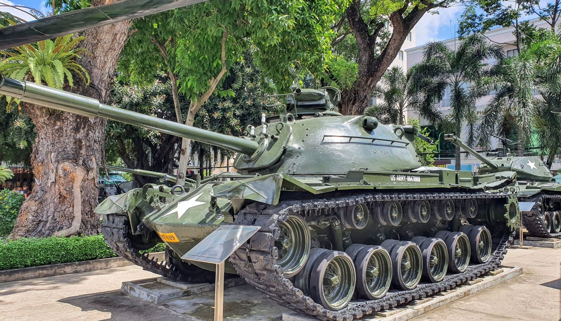 Tanks stationed outside the War Remnants Museum - 5 days in Saigon