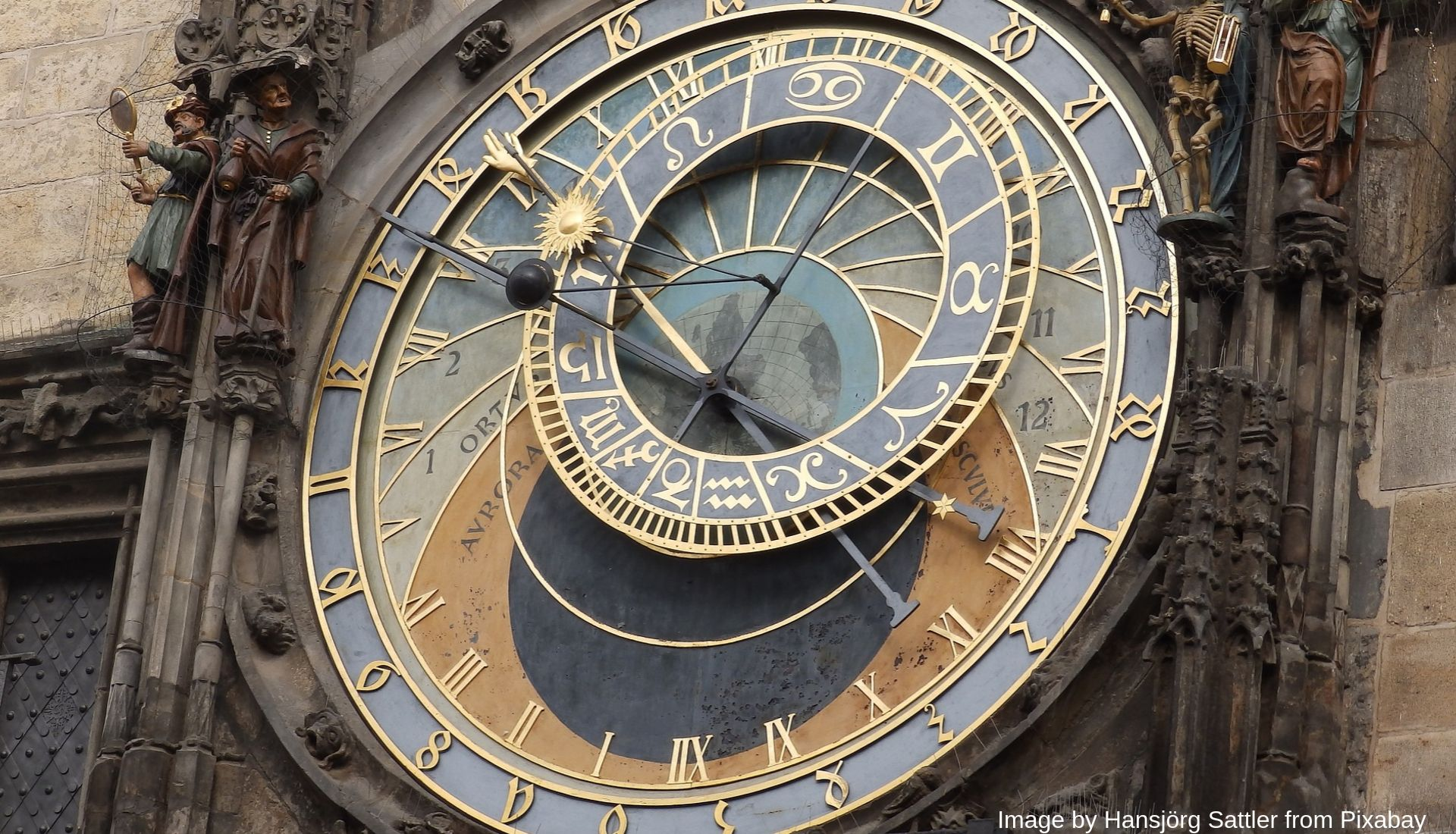 The famous astronomical clock face