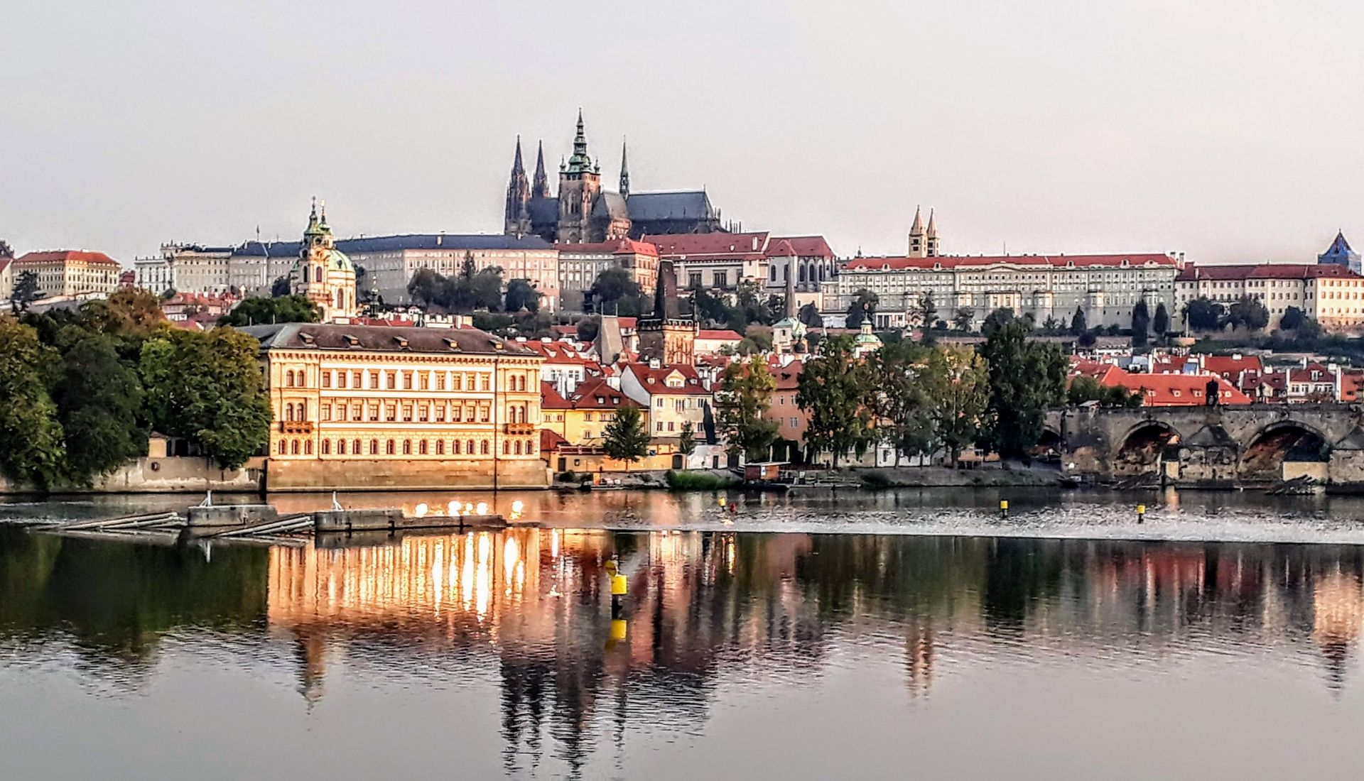 Prague Castle on the hill