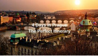 4 days in Prague - photo of the bridges of Prague at sunset
