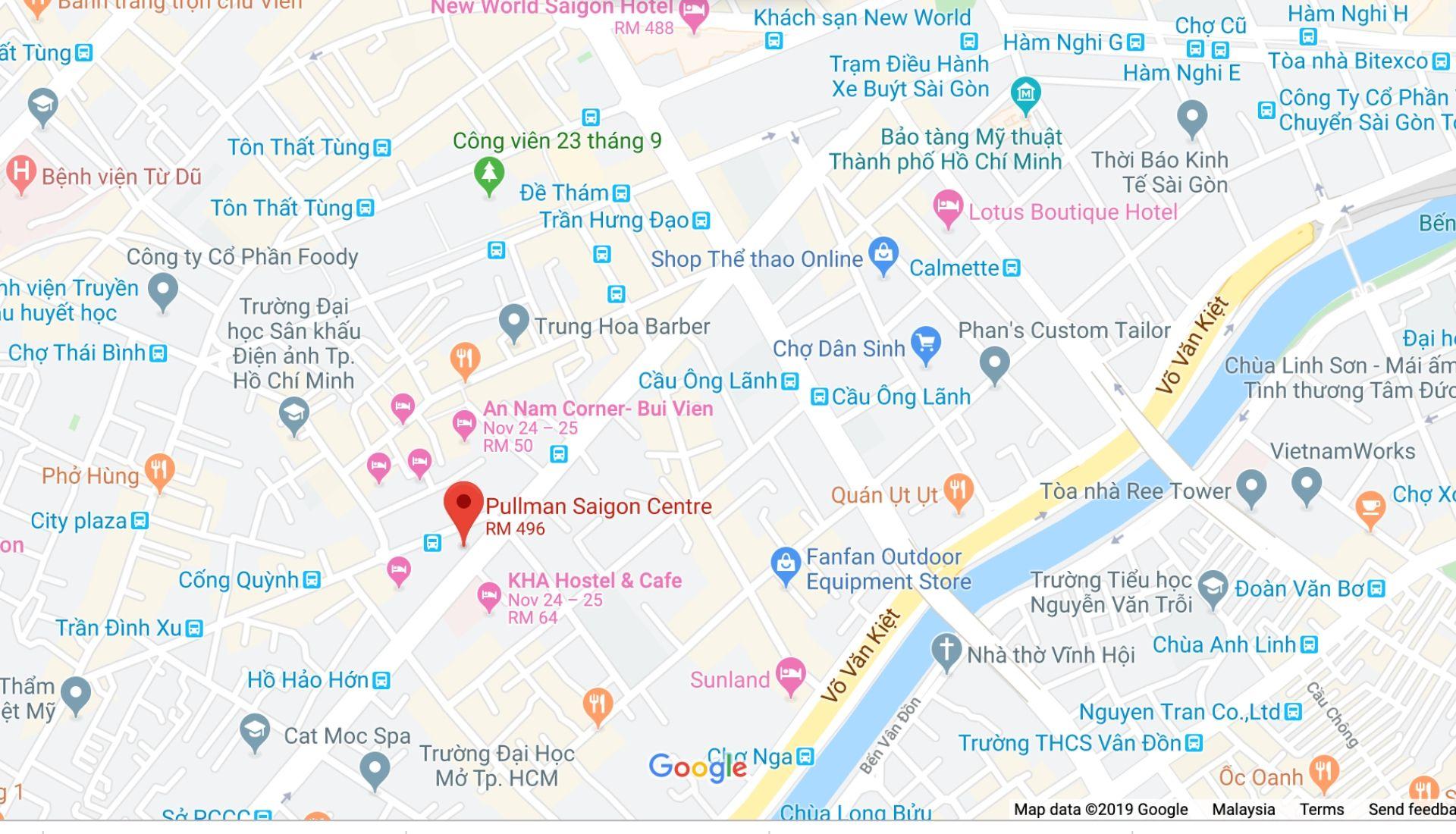 Pullman Saigon Centre Hotel Map