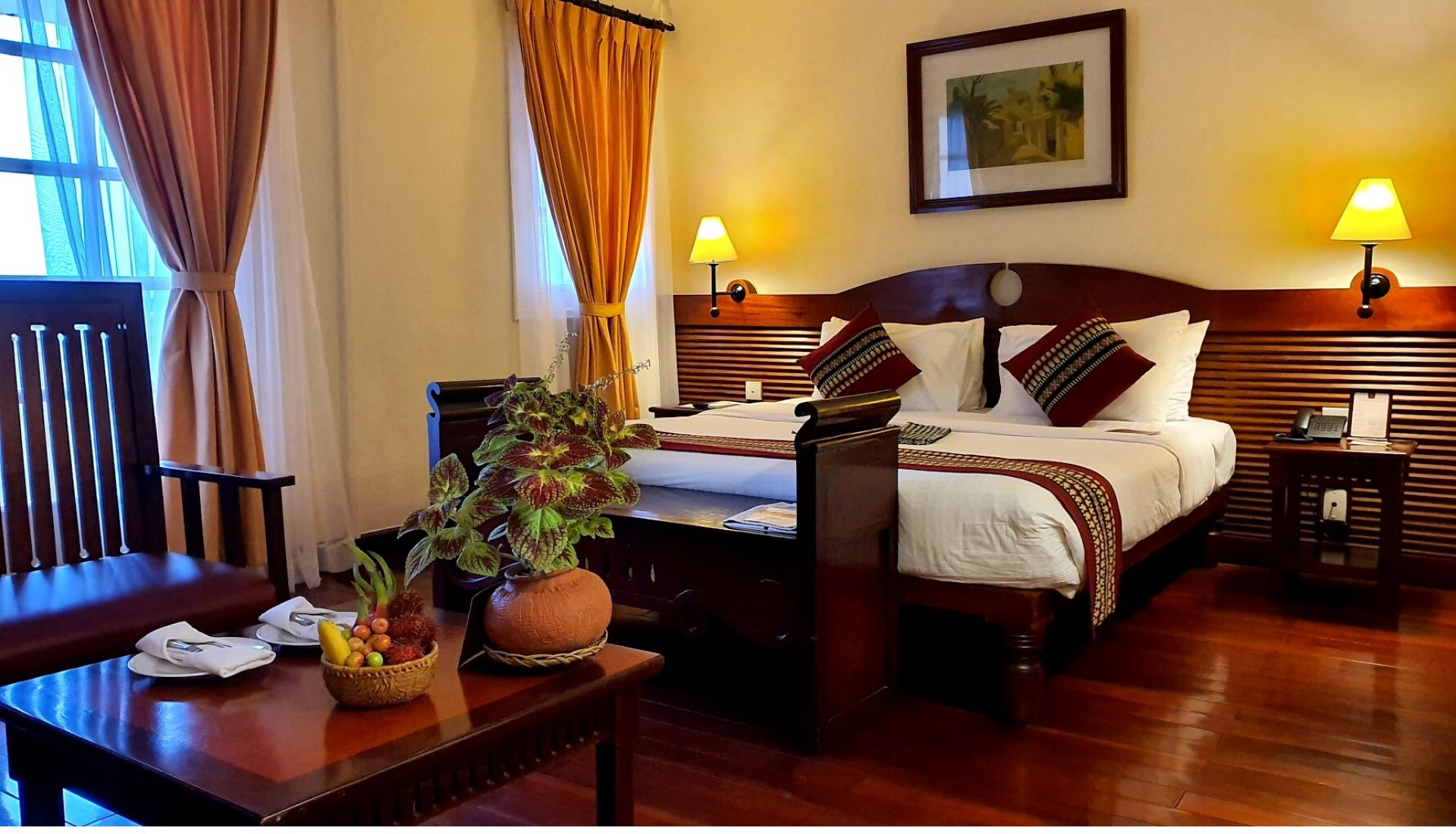 Deluxe Room at the Victoria Chau Doc Hotel