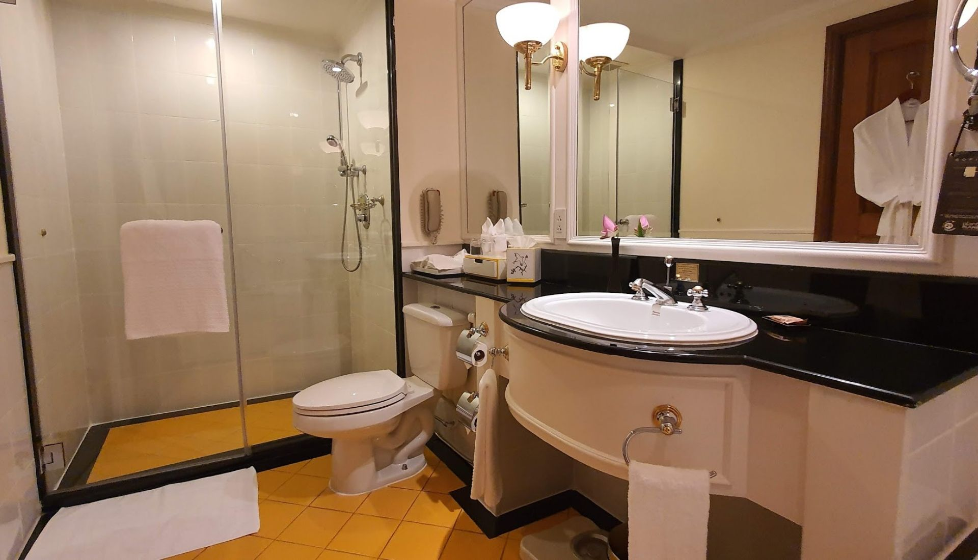 Generous sized bathrooms at the Sofitel Siem Reap