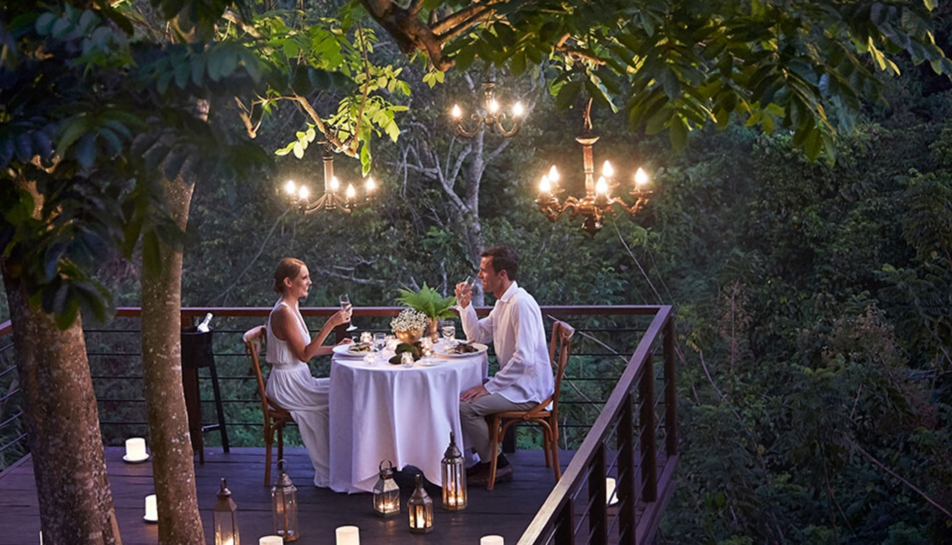 Dining amongst the jungle tree tops