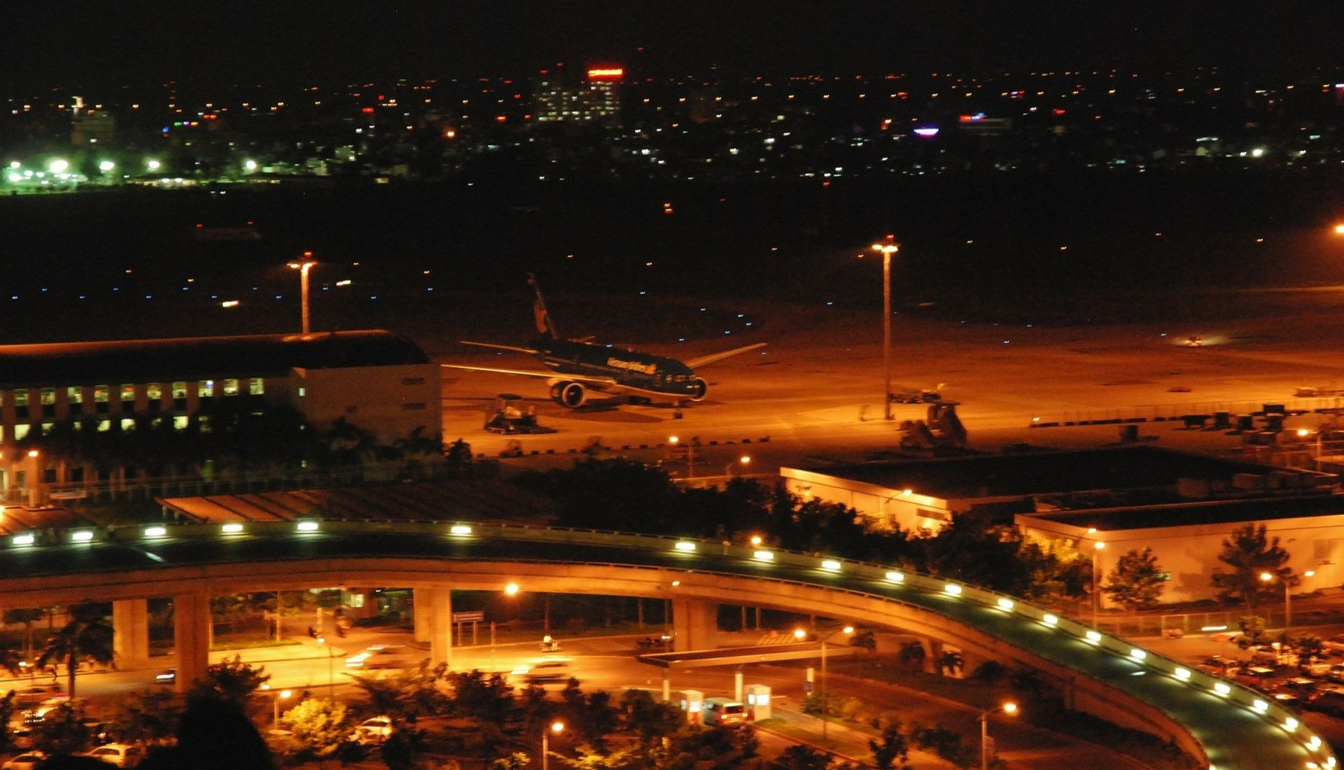 Saigon Airport at Night
